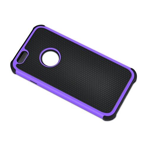 Phone Taschen & Schalen Fußball Textur Kunststoff Fall für iPhone 6 Plus & 6S Plus ( Color : Purple )