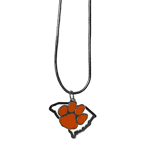 Siskiyou NCAA Clemson Tigers State Charm Necklace, 16