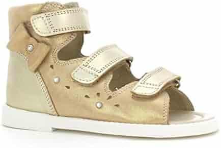 Little Kid//Big Kid Bartek Girls Leather Dress Sandals 36182//59X Golden Beige