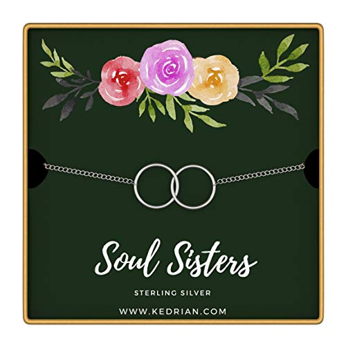 KEDRIAN Soul Sisters Bracelet, 925 Sterling Silver, Friendship Bracelet, Best Friend Bracelet, for Women, Friendship Gifts for Women (Soul Sisters - ()