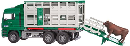 MAN Cattle Transportation Truck incl. Cattle (1 pc. Color may vary) (Bruder Horse Trailer compare prices)