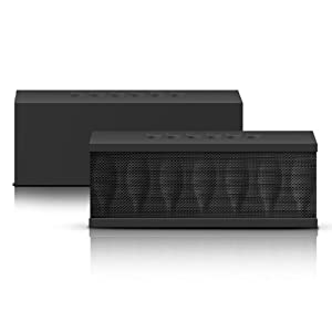 Photive CYREN Portable Wireless Bluetooth Speaker with Built in Speakerphone 8 hour Rechargeable Battery (Black)