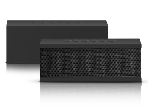 Photive CYREN Portable Wireless Bluetooth Speaker with Built in Speakerphone 8 hour Rechargeable Battery (Black)