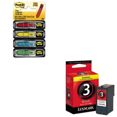 KITLEX18C1530MMM684SH - Value Kit - Lexmark 18C1530 Ink (LEX18C1530) and Post-it Arrow Message 1/2amp;quot; Flags (MMM684SH)