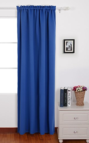 Deconovo Blue Blackour Curtains Rod Pocket Sun Blocking Curtains for Boys Bedroom 42 W x 84 L Royal Blue 1 Panel