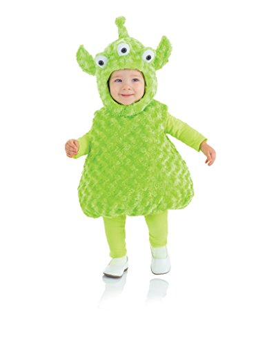 Underwraps Baby's Alien Belly-Babies, Green, Medium -