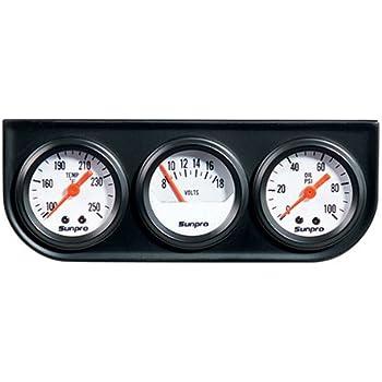 Amazon equus 8200 triple gauge kit automotive sunpro cp8091 mini triple gauge kit white dial publicscrutiny Choice Image