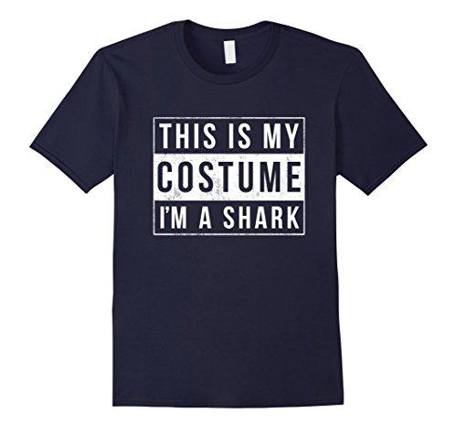 Mens I'm a Shark Costume Halloween Shirt Funny Women Men Kids 3XL Navy (Diy Shark Costume)