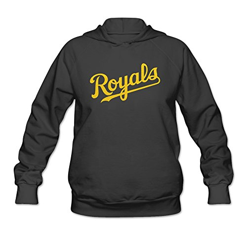 Women The Golden Kansas Royals Hoodie Black 100% Cotton ()