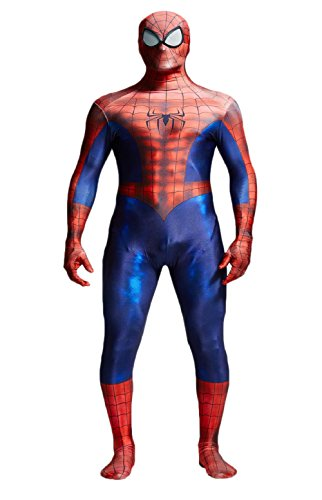 Deadpool Costume Colors (ReliCos Adult Unisex Zentai Bodysuit Halloween Cosplay Costume)