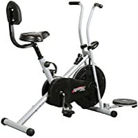 Healthex Exercise Cycle for Weight Loss at Home with Back Support & Twister || Air Bike 1001 for Home Use