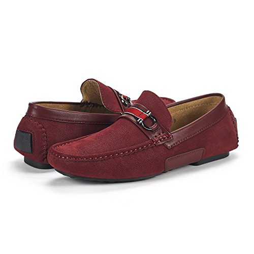 Moccasins Penny Loafers Shoes Mens Marc Burgundy Santoni 05 Bruno pIYwqx