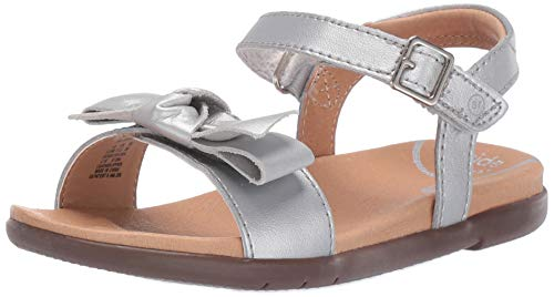 - Stride Rite SRTech Savannah Girl's Sandal, Silver, 5 W US Toddler