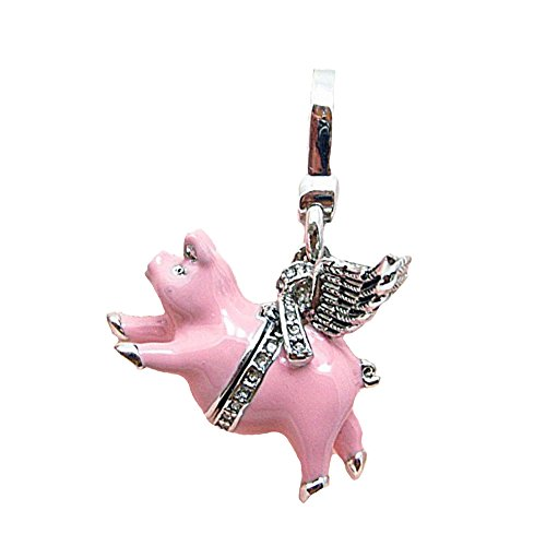 Juicy Couture Pink Enamel Flying Pig - Locket Box Charm ()