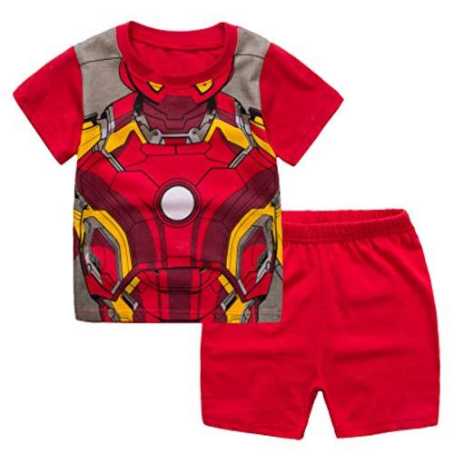 NING Little Boys Short Pajamas Sets Toddler PJS Set Cotton Kids Sleepwears (Iron Man, 3T) -