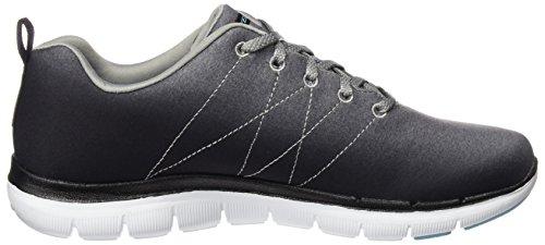 Skechers Sport Frauen Flex Appeal 2.0 Fashion Sneaker Schwarzgrau