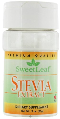 Sweetleaf, Stevia Extract Powder Organic, 0.9 Ounce