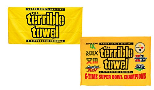 Official Pittsburgh Terrible Towels - Original Yellow Plus 6x Champs from Little Earth