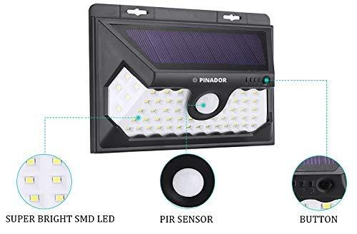 【本物保証】 Pinador 58 LED Front Super Lights Bright Garage, Solar Lights, 3 Modes. Wireless Motion Sensor Light with 270° Wide Angle, IP65 Waterproof, Easy-to-Install Security Lights for Front Door, Yard, Garage, Home or Business [並行輸入品] B07R4PKJ88, イヌカイマチ:bf5a8360 --- dou13magadan.ru