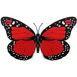 Home Decor Sticker Art Elements Sticker - 10Pcs 12cm 3D Colorful Butterfly Wall Sticker Home Decor Applique - Red - 10 x 3D Butterfly Wall Sticker (Including adhesive & Magnet