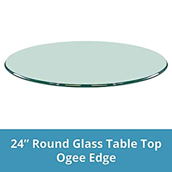 Amazon Com 24 Inch Round Glass Table Top 1 2 Thick Ogee Edge