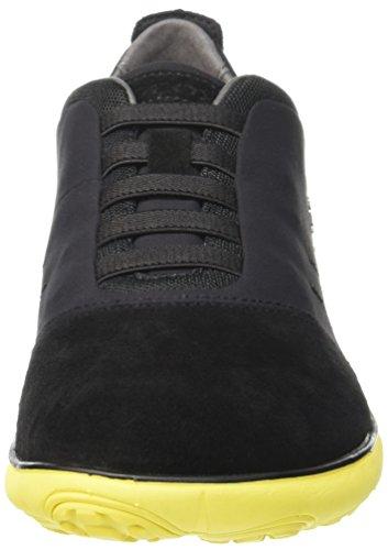 Homme Black Basses Nebula Baskets U Geox Schwarz Yellowc0054 F wOUzU7