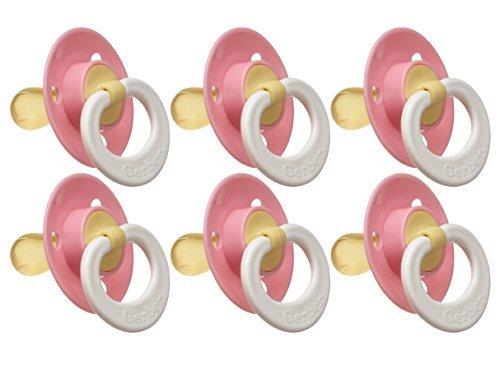 Gerber First Essentials Soft Center Latex Pacifier, 6 Pack, Pink by Gerber