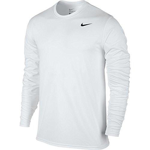 Nike Mens Legend 2.0 Long Sleeve Dri-Fit Training Shirt White/Black 718837-100 Size 2X-Large