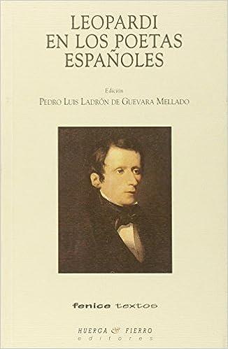 Amazon libros de audio descargar ipod Leopardi en los poetas españoles (Fenice Textos) PDF