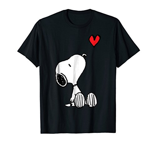 Peanuts Heart Sitting Snoopy T-Shirt in 5 Colors for Men, Women