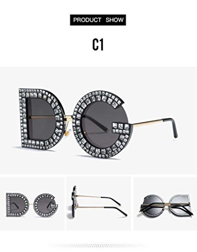 Large DG Letter Fashion Designer Sunglasses Bling Eyewear Crystal Shades Diamond