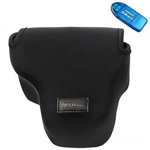 first2savvv-qsl-sx50-01g10-black-neoprene-camera-case-bag-for-canon-powershot-sx50-hs-nikon-coolpix-
