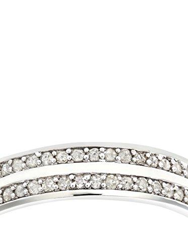 Revoni - Bague Éternité en or blanc 9 carats et diamants 0,25 carat
