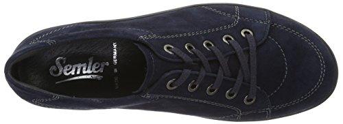 Semler Elena-g1/2, Zapatos de Cordones Brogue para Mujer Blau (midnightblue)