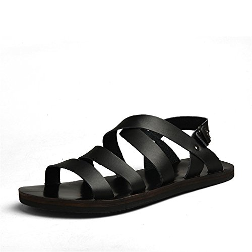 Sandali traspiranti pelle uomo spiaggia coperto 1 al per in da e Color adatti antiscivolo Black il tempo libero Size casual all'aperto Scarpe da Brown EU 41 Sandali 3 xY5Aw0qv
