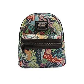 Star Wars Classic Pastel Stickers Mini Faux Backpack by Loungefly