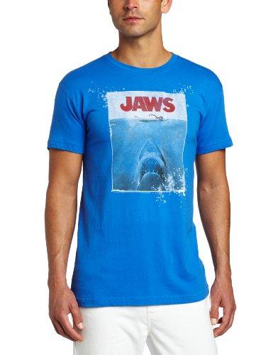 American Classics Men's Jaws Movie Poster 1975 Mens T-Shirt, Royal, X-Large