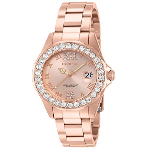 (Invicta Women's 15253 Pro Diver Rose Gold Ion-Plated Stainless Steel Watch )