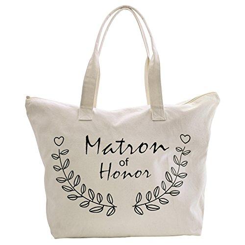 Honor Naturel Sac mariée à main Matron moyen of Tote mariage bandoulière Coton femme 100 Elegantpark de Bags aTqww