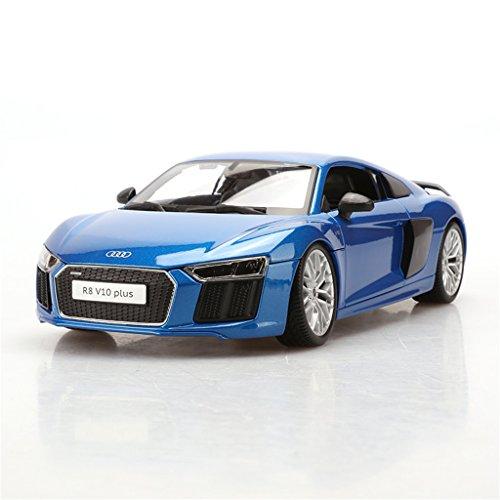 1:18 Maisto Audi R8 V10 Plus Blue Diecast Model Car Vehic...