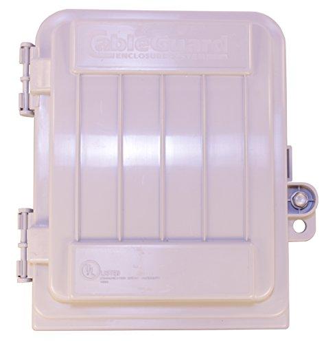 "17/""x10/""x3/"" OUTDOOR CABLETEK ENCLOSURE PLASTIC GRAY CASE UTILITY CABLE BOX MDE-S"