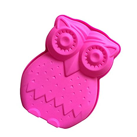 Amazon.com: Large Animal Shaped Bread Tart Flan Silicone Baking Mould Tin Bakeware (Owl): Kitchen & Dining