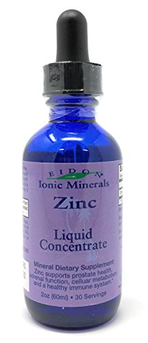 Eidon® Ionic Minerals Zinc Supplement Concentrate 2 oz. Glass Dropper Boosts Immune System and Mood Relieves (Mineral Beauty System)