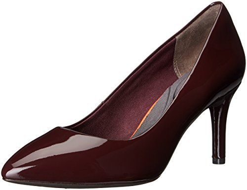 Rockport Women's TM75MMPTH Plain Dress Pump, Dark Vino Patent, 7.5 (Plain Womens Pumps)