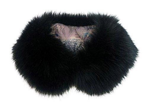 ar Faux Chic Shawl Fur Scarf Collar Stole (Black) (Co Shawl Collar)