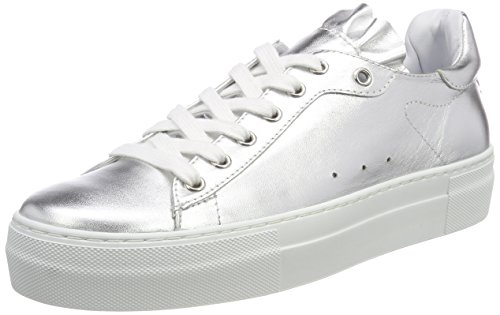 Jil Sander Sporty, Sneaker Donna Argento (Silver 052)