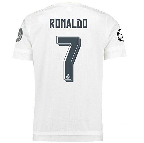 爬虫類ポルティコ状2015-2016 Real Madrid UCL Home Shirt (Ronaldo 7)