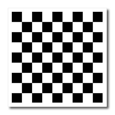 Flag Transfer (3dRose ht_154527_1 Check Black and White Pattern Checkered Checked Squares Chess Checkerboard or Racing Car Race Flag Iron on Heat Transfer, 8 by 8