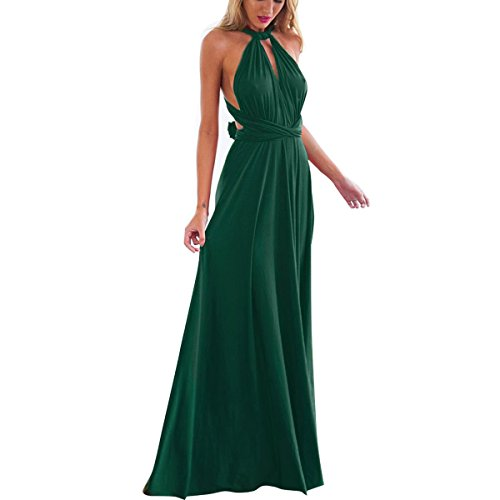 Women Transformer Infinity Evening Dress Multi-Way Wrap Convertible Halter Maxi Floor Long Dress High Elasticity