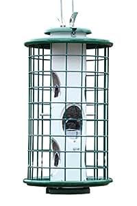 Varicraft Av3m 2qt Wild Bird Mixed Seed Feeder With Cage